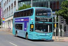 654 - YN65 XFO (Solenteer) Tags: nottinghamcitytransport 654 yn65xfo scania n230ud alexanderdennis enviro400 nottingham