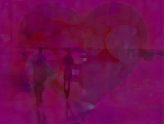 If music be the food of love, play on - William Shakespeare (soniaadammurray - On & Off) Tags: digitalart art myart visualart abstractart experimentalart contemporaryart williamshakespear music love people man woman heart pink romance lovers shadows reflections exterior hss artchallenge sliderssunday
