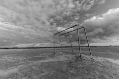 Total football (max dense) Tags: blackandwhite bw biancoenero abstract spo monochrome minimal football sky beach nikon d5200