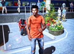 Sunny Sunday... (ThiegoFire) Tags: chucksize art blog men man boy male fashion outfit style blogger sl secondlife sun sunny sunday shirt jeans ph photo