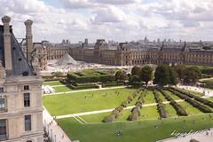 Vue depuis la Grande Roue de Paris (kingphoto07) Tags: aparis roue grand la paris a le louvre jardin des tuileries pyramide du travel vue depuis de