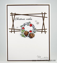 Christmas Wreath (Milla*Mustesormi) Tags: card cleanandsimple christmascard papersmooches naturalbeauties fusedframe