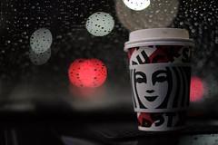 16/365  On a cold rainy night. (woofoo) Tags: night rain coffee starbucks bokeh mitakon35mmf095ii xh1 fujifilm