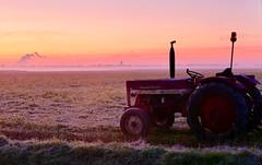 KaTTenDijke. (Omroep Zeeland) Tags: kattendijke polder tractor zonsopgang sunrise sol color zeeland nederland panasonic lumix november 2019