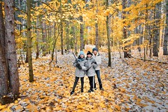 Friday Night Hike (john.anes) Tags: hike sony rx100 m3 rx100m3 rx1003 iii rx100iii outdoors fall color family winter snow leaves yellow november michigan