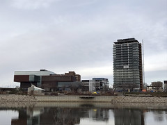 Remai Modern Art Gallery and No.1 River Landing (daryl_mitchell) Tags: saskatchewan canada autumn 2018 saskatoon downtown river art gallery remai construction