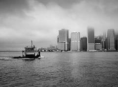 New York Tug Boat (Hector Patrick) Tags: newyork eastriver fujifilmx100f landscape landschaft flickrelite twop blncoynegro noiretblanc absoluteblackandwhite bnw fog nyc flickr fuji