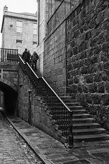 Up or Down (syf22) Tags: up stairs steps stone staircase top above overhead elevated ladder apex summit upward skyward higher uphill going mon blackwhite