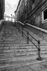 Crown Terrace Stairs (syf22) Tags: up stairs steps stone staircase top above overhead elevated ladder apex summit upward skyward higher uphill going mon blackwhite