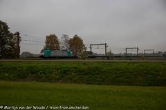 Lineas 2839 met Volvo Trein te Holten 9 november 2019 (Tsaar Martijn) Tags: lineas goederentrein freightrain traxx bombarider