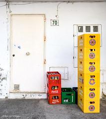 70 (Bart van Hofwegen) Tags: crates crate box boxes beer drinks bar backdoor alley geometric geometrical