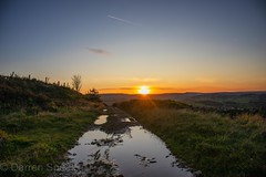 Sunshine and puddles. (Darren Speak) Tags: lastofsummerwine sun sunset canoneosm sky huddersfield 2019 autumn home