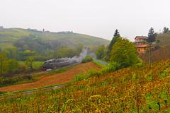 Vapore d'autunno (Paolo Brocchetti) Tags: paolobrocchetti bahn rail ferrovia treno gr940 calosso autunno olympus penf 35mm