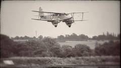 Here comes the mail … (marc.barrot) Tags: monochrome airplane aircraft vintage uk cb22 cambridgeshire duxford duxfordaerodrome iwmduxford classicwings dragonrapide dominie dh89a dehavilland gaiyr hg691