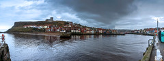 Whitby Panorama (Derwisz) Tags: whitby england yorkshire nothyorkshire harbour town riveresk esk hill cliff church abbey whitbyabbey churchofstmary canoneos40d panorama