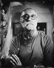 Dave_ (RoryO'Bryen) Tags: tintype copyrightroryobryen largeformat traditionalprocess 4x5 collodion portrait retrato