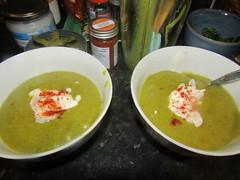 IMG_8459 cold weather =home made soup time :) (belight7) Tags: vegetarian soup leeks potato smoked paprika garlic tomato coriander life uk england autumn home local