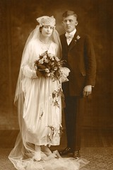 100th Wedding Anniversary (Ian E. Abbott) Tags: vintage antique early20thcentury 1919 family photograph photo portrait wedding marriage bride groom couple grandparents grandmother grandfather formal