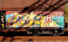 Graffiti on Freights (wojofoto) Tags: freighttraingraffiti freighttrain fr8 freights cargotrain vrachttrein güterzug graffiti streetart amsterdam nederland netherland holland wojofoto wolfgangjosten