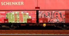 Graffiti on Freights (wojofoto) Tags: freighttraingraffiti freighttrain fr8 freights cargotrain vrachttrein güterzug graffiti streetart amsterdam nederland netherland holland wojofoto wolfgangjosten bhf clap