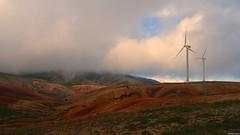 Modern landscape (KOSTAS PILOT) Tags: panachaikomountain panachaiko windpark clouds fog landscape peloponese peloponnese achaia greece mountain nature wind kostaspilot sonyhx60 colors scenic mystic hiking παναχαικο πελοπόννησοσ αχαιασ βουνό φύση τοπίο αιολικόπάρκο ανεμογεννήτριεσ αέρασ ομίχλη συννεφα goldenhour goldenlight sunset ηλιοβασίλεμα χρυσηωρα χρυσοφωσ φωσ light