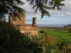 Dunster Castle sea view (ORIONSM) Tags: dunster castle somerset england historic nationaltrust building sea bristolchannel coast beach trees flields nature landscape olympus omdem1 olympus14150mm