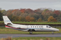 Long time resident G-SPRE - Cessna 550 Citation Bravo departs London Oxford Airport . (Bob Symes) Tags: cessna jet bixjet gspre c550 citation citationbravo 5500872 oxford