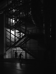 Ghost.On.The.Wall (RALFkuehn) Tags: street streetphotography dark urban sw monochrom ghost wall balingen mft microfourthirds olympus penf pen f sigma 16mm14 wet