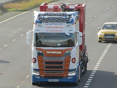 Grampian Continental, Scania S650 (OO05NJB) On The M62 Eastbound Passing Rawcliffe Flyover (Gary Chatterton 7 million Views) Tags: grampiancontinental scaniatrucks scanias650 oo05njb scotland m62motorway trucking wagon lorry distribution haulage logistics transport flickr canonpowershotsx430 photography