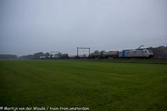 Lineas 186 454 met Sweden Express te Holten 9 november 2019 (Tsaar Martijn) Tags: lineas goederentrein freightrain traxx bombarider