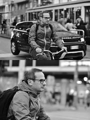 [La Mia Città][Pedala] (Urca) Tags: milano italia 2018 bicicletta pedalare ciclista ritrattostradale portrait dittico bike bicycle nikondigitale tina biancoenero blackandwhite bn bw 2018101542