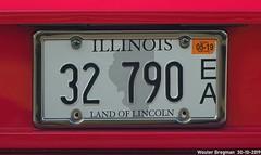 32 790 (Wouter Bregman) Tags: 32790 license plate kenteken plaque immatriculation immat us usa il illinois