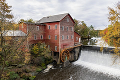 Historic Mill (Greg Riekens) Tags: mill autumn usa landscape nikond500 stream midwest fall historical dellsmill waterfall wisconsin history architecture augusta fallleaves fallcolors
