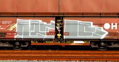 Graffiti on Freights (wojofoto) Tags: freighttraingraffiti freighttrain fr8 freights cargotrain vrachttrein güterzug graffiti streetart amsterdam nederland netherland holland wojofoto wolfgangjosten railr