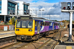 142051 - Sheffield - 19/10/19. (TRphotography04) Tags: northern rail pacer 142051 screeches sheffield with 2p20 1116 service from gainsborough central