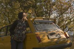 Retrowave. (Khuroshvili Ilya) Tags: instagram portrait autumn people girl woman yellow sun car auto vehicle seaview soviet retro