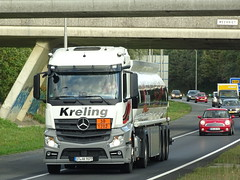 Mercedes-Benz Actros MP4 fueltanker from Kreling Germany. (capelleaandenijssel) Tags: stak9077 truck trailer lorry camion lkw netherlands nl tanker citerne streamspace small