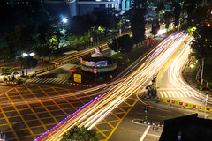 Paint the Streets (smzoha) Tags: lights lighttrails trails colors colorful vibrant abstract urban city cityscape bustle thriving traffic cars beauty beautiful life nightlife night darkness shadows contrast lines ngc hss slidersunday