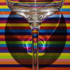 Poisonous liquid (ryorii) Tags: poisonous liquid liquidovelenoso colours colors coloured colorful colore colori colorato stripes striscia strisce glass reflections riflesso riflessi macromondays hmm canon reflection