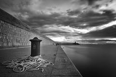 Grey day (Laponet) Tags: laponet robert maulet panasonic leica dcg9 borriana castello port harbour black blancinegre blancoynegro bw bn blackwhite sea sky mar mediterranea mediterraneo mediterrani