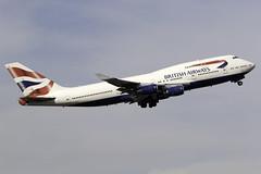 British Airways 747-400 G-CIVJ at Heathrow Airport LHR/EGLL (dan89876) Tags: british airways boeing 747 queen b744 747400 747436 gcivj london heathrow international airport takeoff runway 09r departure lhr egll