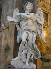 Italy - Rome - Basilica San Andrea delle Fratte - Sculpture - Angel by Bernini (JulesFoto) Tags: italy rome roma church angel sculpture bernini interior