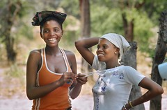 Happiness (ValterB) Tags: valterb village nikkor nikonfm nikon girls girl happiness portrait travel tree trip trees tourism woman