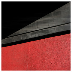 Red & Black Square (Dave Button) Tags: xt2 fuji fujifilm city urban nottingham citygate red black wall abstract square diagonal line lines grey color colour provia xf23mmf2 23mm simple simplicity