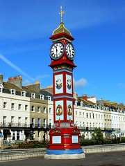03b The Queen Victoria Jubilee Clock, the Esplanade, Weymouth.  Photo by Brian Robert Marshall (Clementinos2009) Tags: 2011dorsetcoastexpress2ndaugust railwaytouringcompany 34067tangmere weymouth brianrobertmarshall
