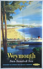 03a Weymouth. Sun Sands & Sea. British Railways poster (Clementinos2009) Tags: 2011dorsetcoastexpress2ndaugust railwaytouringcompany 34067tangmere weymouth