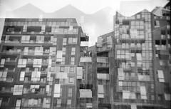 (von8itchfisk) Tags: ishootfilm selfdeveloped film filmisnotdead blackandwhite mediumformat 120film doubleexposure architecture analog analogphotography vonbitchfisk ziess zeissikonnettar ipswich ipswichwaterfront suffolk eastanglia