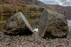 Millennium stones 3 (allybeag) Tags: millenniumstones derwentwater centenery nt nationaltrust calfclosebay peterrandallpage sculpture rocks lake