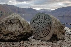 Millennium stones 1 (allybeag) Tags: millenniumstones derwentwater centenery nt nationaltrust calfclosebay peterrandallpage sculpture rocks lake