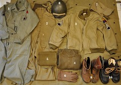 WW2 U.S. Armored Crew Clothing (E.T.O.) (Wing attack Plan R) Tags: tanker armoredcrewman eto winter194445 battleofthebulge usarmy worldwar2 uniform reenactment m4sherman